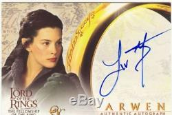Lord Of The Rings FotR Autograph Card Liv Tyler As Arwen