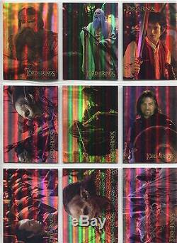 Lord Of The Rings FotR Hobby Japan Complete Prismatic Foil Chase Card Set #1-10
