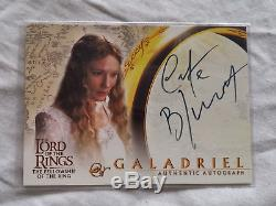 Lord Of The Rings Galadriel Cate Blanchett autograph auto card LOTR
