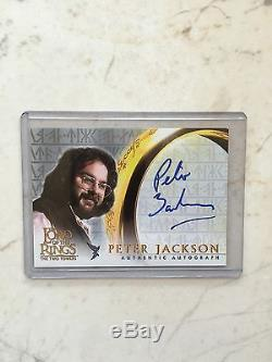 Lord Of The Rings LOTR FOTR Two Towers TTT Peter Jackson Autograph Auto Card