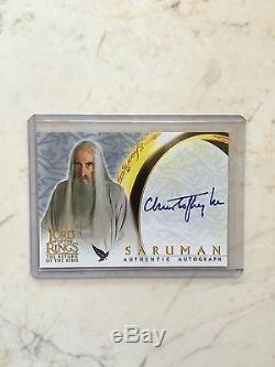 Lord Of The Rings LOTR ROTK Saruman Christopher Lee Autograph Auto Card