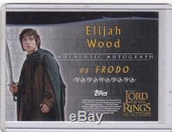 Lord Of The Rings LOTR Two Towers TTT Frodo Elijah Wood Autograph Auto Card