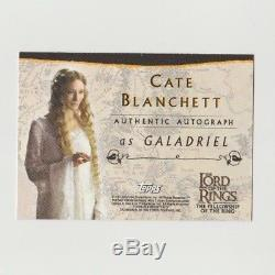 Lord Of The Rings Lotr Cate Blanchett Autograph Fellowship Galadriel Fotr