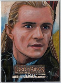 Lord Of The Rings Lotr Masterpieces II 2 Sketch Card Legolas