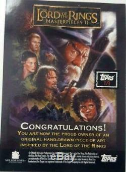 Lord Of The Rings Masterpieces Gandalf Grey Sketch Card Topps Art Movie Drawing