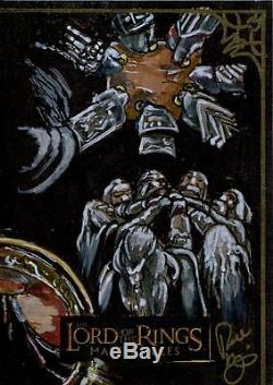 Lord Of The Rings Masterpieces Sketch Card By Renae De Liz Puzzle Piece