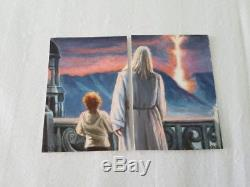 Lord Of The Rings Mini Painting Two Part Aceo Psc Sketch Art Card