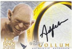 Lord Of The Rings RotK Autograph Card Andy Serkis As Gollum Black Variant