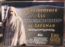 Lord Of The Rings RotK Autograph Card Christopher Lee As Saruman