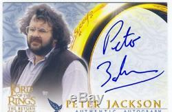 Lord Of The Rings RotK Update Autograph Card Peter Jackson Director