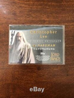 Lord Of The Rings TTT Autograph Card Christopher Lee As Saruman