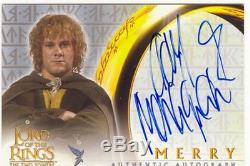 Lord Of The Rings TTT Autograph Card Dominic Monaghan As Merry