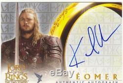 Lord Of The Rings TTT Autograph Card Karl Urban As Eomer