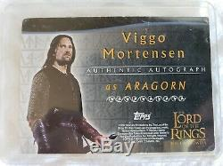 Lord Of The Rings TTT Autograph Card Viggo Mortensen As Aragorn The Two Towers