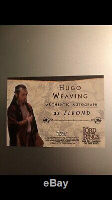 Lord Of The Rings Topps Hugo Weaving Elrond Autograph