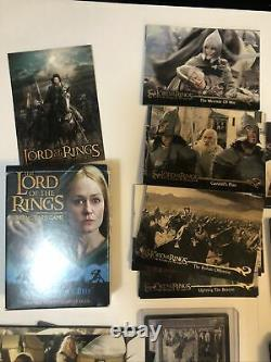 Lord Of The Rings Trading Card Game Decipher HUGE LOT 240 Cards ROTK, topps 2001