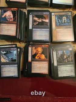 Lord Of The Rings Trading Card Game Decipher Lot Of more than 1800 Cards