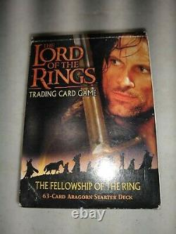 Lord Of The Rings Trading Card Game Fellowship Of The Ring Aragorn Starter Deck