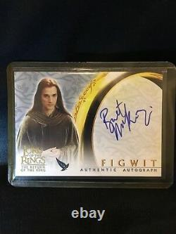 Lord of Rings the Return of the King Topps Figwit Auto