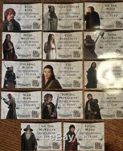 Lord of The Rings LOTR FOTR Printer Proof Error Autograph Cards INSANELY RARE