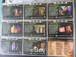 Lord of The Rings LOTR TOPPS FOTR Fellowship of the Ring Card BINDER signed x14