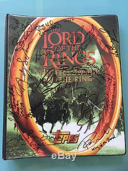 Lord of The Rings LOTR TOPPS FOTR Fellowship of the Ring Card BINDER signed x18