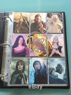 Lord of The Rings LOTR TOPPS Return Of The King ROTK signed Card set & BINDERS