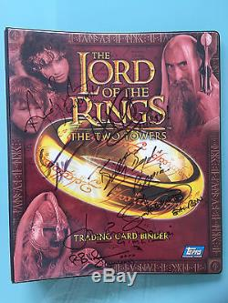 Lord of The Rings LOTR TOPPS The Two Towers Autograph Card BINDER signed x7