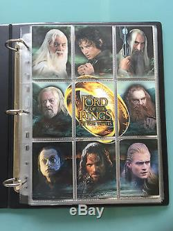 Lord of The Rings LOTR TOPPS The Two Towers signed Autograph Card set & BINDERS