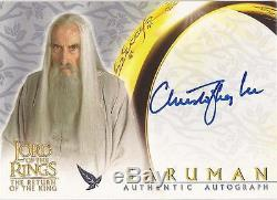 Lord of The Rings ROTK Christopher Lee Saruman Auto / Autograph Card