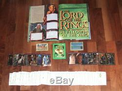 Lord of The Rings The Fellowship Of Ring Empty Merlin album & Complete Loose Set