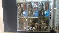 Lord of The Rings Trilogy Topps ALL Costume cards, Binders and card sets