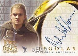 Lord of The Rings Two Towers (& Hobbit) Orlando Bloom Legolas Autograph Card