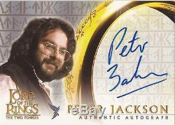 Lord of The Rings Two Towers (& Hobbit) Peter Jackson Director Autograph Card