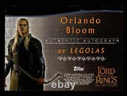 Lord of The Rings Two Towers Orlando Bloom as Legolas Autograph Card LOTR TTT