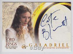Lord of the Rings AUTOGRAPH Card Cate Blanchett as Galadriel ID433