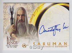 Lord of the Rings AUTOGRAPH Card Christopher Lee as Saruman ID43x