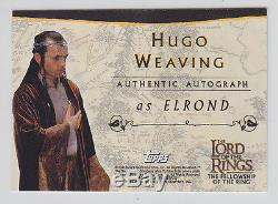 Lord of the Rings AUTOGRAPH Card Hugo Weaving as Elrond ID432