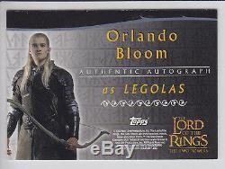 Lord of the Rings AUTOGRAPH Card Orlando Bloom as Legolas ID430