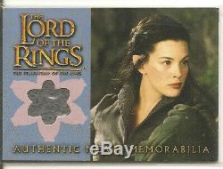 Lord of the Rings Arwen's Riding Outfit memorabilia card Topps 2002