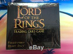 Lord of the Rings CCG Fellowship Draft Pack LOTR SEALED Booster Box Very Rare