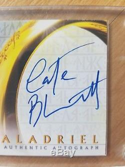 Lord of the Rings Cate Blanchett The Two Towers Topps Signed Card