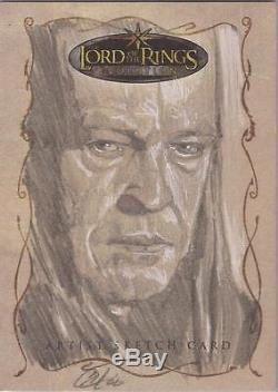 Lord of the Rings Evolution Cat Staggs Denethor Sketch Card