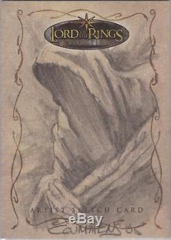 Lord of the Rings Evolution Cynthia Cummens Nazgul Sketch Card