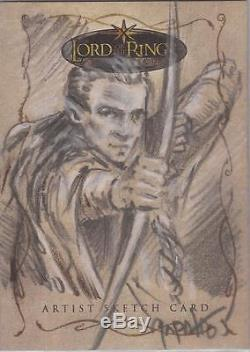 Lord of the Rings Evolution Jeff Zapata Legolas Sketch Card