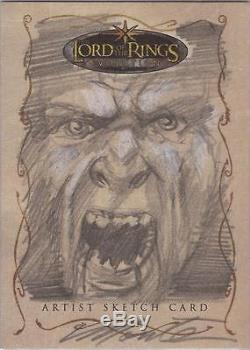 Lord of the Rings Evolution Monte Moore Uruk-hai Sketch Card