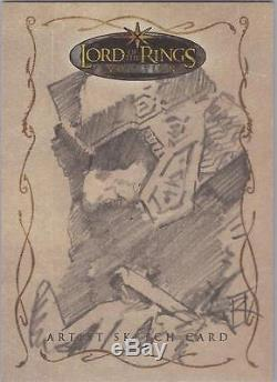 Lord of the Rings Evolution Russ Walks Gimli Sketch Card