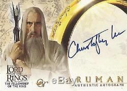 Lord of the Rings Fellowship Christopher Lee Saruman Autograph Card