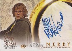 Lord of the Rings Fellowship Dominic Monaghan Merry Autograph Card