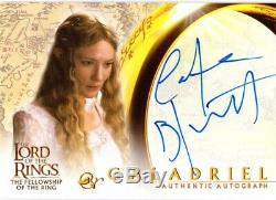 Lord of the Rings Fellowship FOTR AUTOGRAPH CATE BLANCHETT as Galadriel
